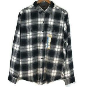 NWT Woolrich Flannel Men's Size Large Black White